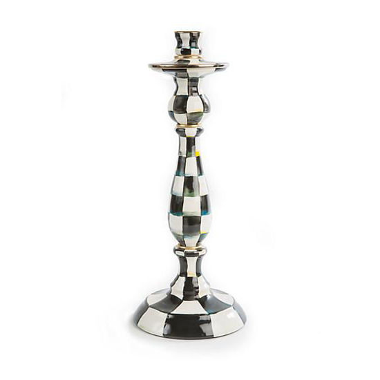 Courtly Check Enamel Candlestick - Large by MacKenzie-Childs