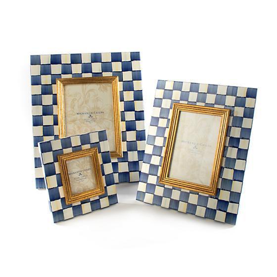 """Royal Check Frame - 2.5"""" x 3""""  by MacKenzie-Childs"""