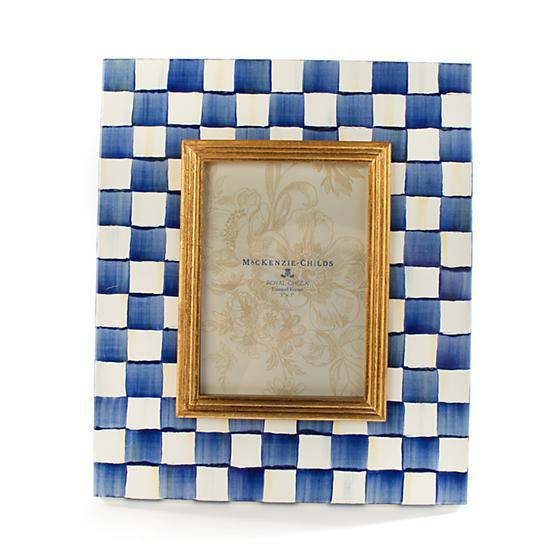 """Royal Check Frame - 5"""" x 7""""  by MacKenzie-Childs"""