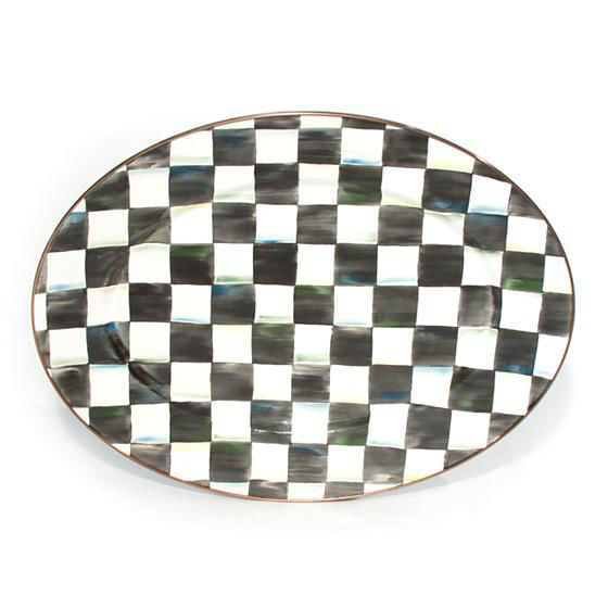 Courtly Check Enamel Oval Platter - Medium by MacKenzie-Childs