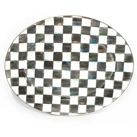 Courtly Check Enamel Oval Platter - Large by MacKenzie-Childs