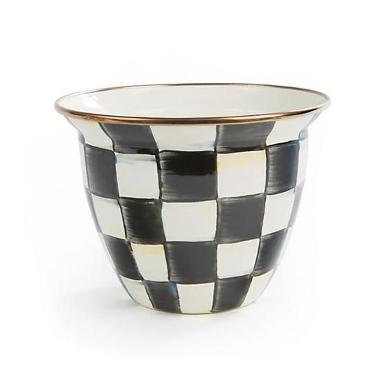 Courtly Check Enamel Flower Pot - Large  by MacKenzie-Childs