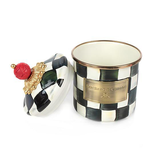 Courtly Check Enamel Canister - Demi by MacKenzie-Childs