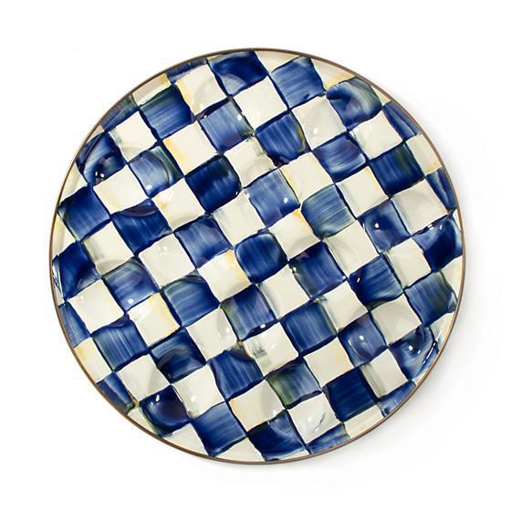 Royal Check Enamel Egg Plate by MacKenzie-Childs