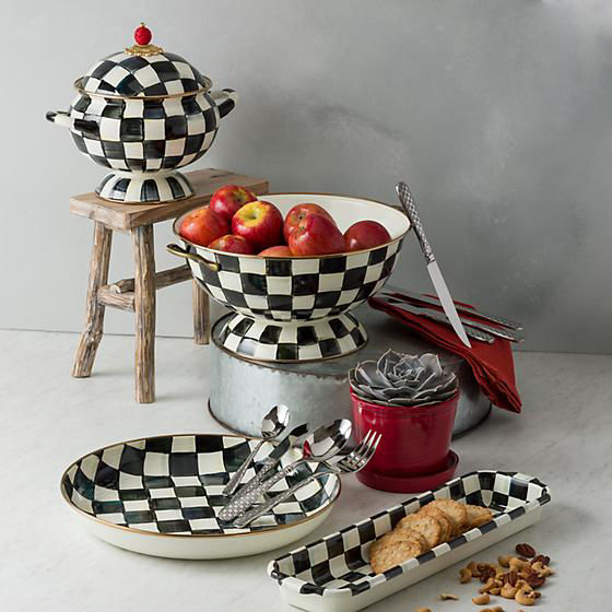 Check Steak Knives - Set of 4 by MacKenzie-Childs