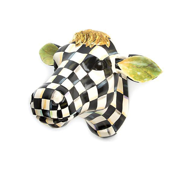 Courtly Check Small Cow by MacKenzie-Childs