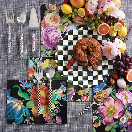Courtly Check Supper Club Salad Serving Set by MacKenzie-Childs