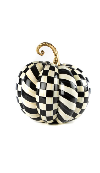 Courtly Check Gold Medal Pumpkin by MacKenzie-Childs
