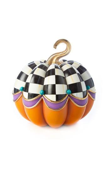 Fairytale Check Pumpkin by MacKenzie-Childs