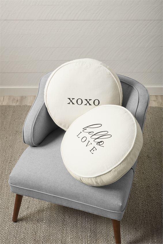Round Love Pillows by Mudpie