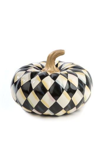 Courtly Harlequin Squashed Pumpkin - Small by MacKenzie-Childs