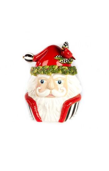 Night Cap Santa Cookie Jar by MacKenzie-Childs