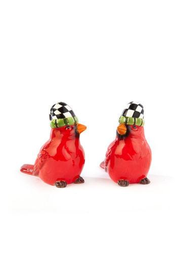 Night Cap Cardinals Salt & Pepper Set by MacKenzie-Childs