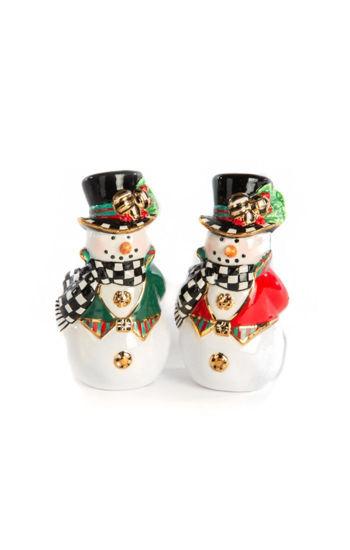 Top Hat Snowman Salt & Pepper Set by MacKenzie-Childs