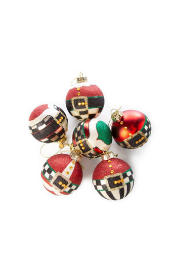 Belts & Buckles Glass Ball Ornaments - Set of 6 by MacKenzie-Childs