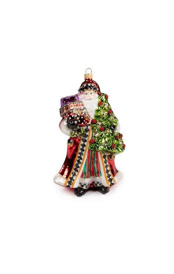 Glass Ornament - Festive Father Christmas by MacKenzie-Childs