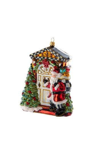 Knock Knock Santa Glass Ornament by MacKenzie-Childs
