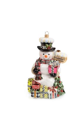 Glass Ornament - Greeter Snowman by MacKenzie-Childs