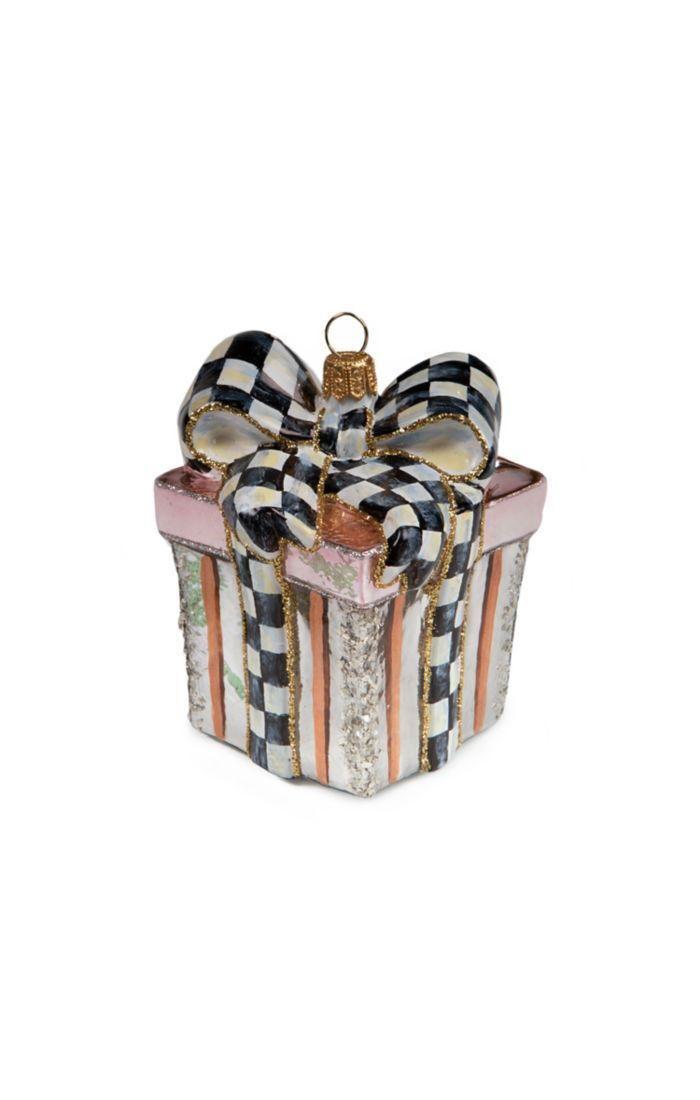 Glass Ornament - Della Robbia Gift Box by MacKenzie-Childs