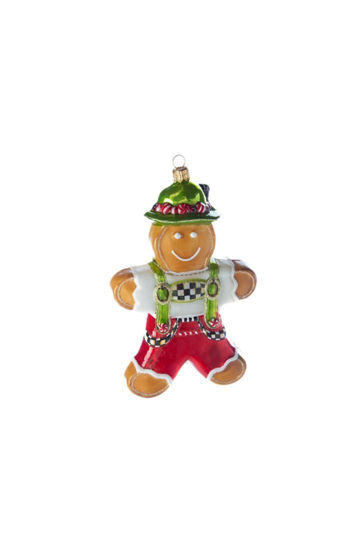 Glass Ornament - Candy Cottage Gingerbread Boy by MacKenzie-Childs