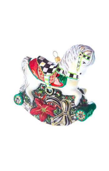 Rocking Horse Glass Ornament by MacKenzie-Childs
