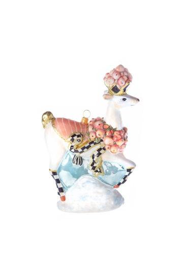 Glass Ornament - Della Robbia Deer by MacKenzie-Childs