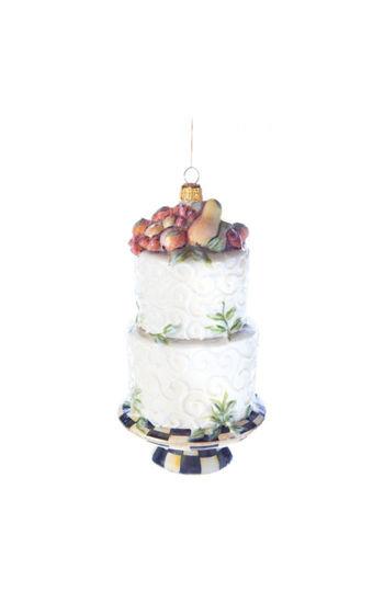 Glass Ornament - Della Robbia Cake by MacKenzie-Childs