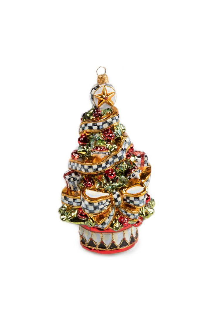 Glass Ornament - Courtly Ribbon Tree by MacKenzie-Childs