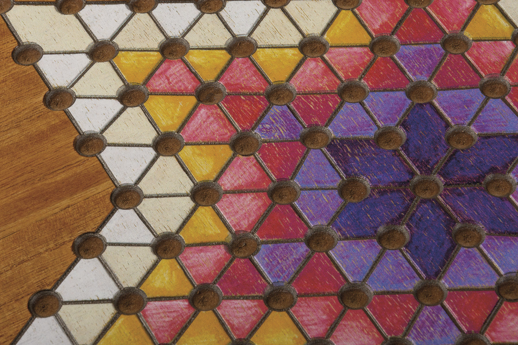 Chinese Checkers Wall Game by Primitives by Kathy