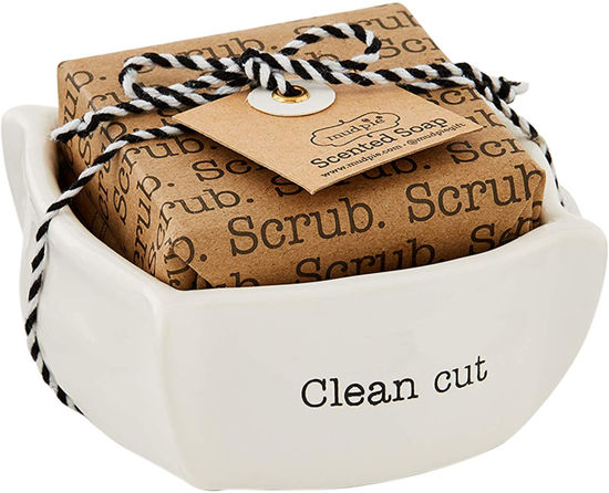 Clean Cut Circa Soap Dish Set by Mudpie