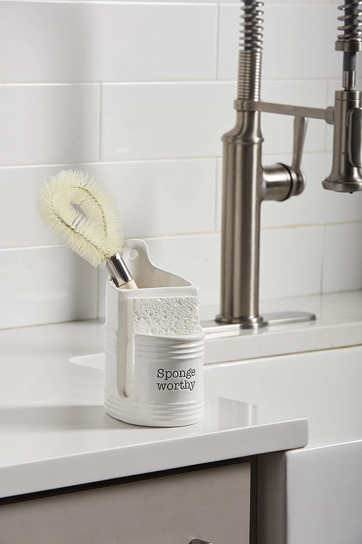 Circa Sponge Brush Holder Set by Mudpie