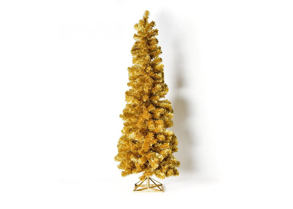 5-Foot Tinsel Tree Gold by Coton Colors