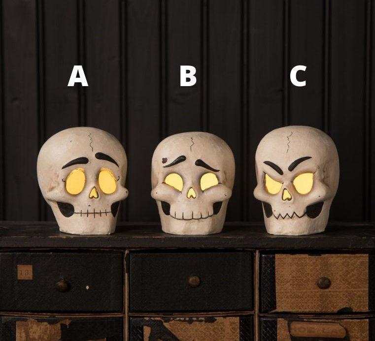 Skully Head Luminary by Bethany Lowe Designs