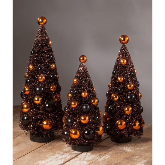 Magic Halloween Glitter Bottle Brush Tree Large by Bethany Lowe Designs