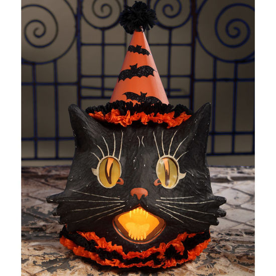 Sassy Cat Lantern Large by Bethany Lowe Designs