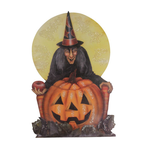Midnight Witch With Pumpkin Dummy Board by Bethany Lowe Designs