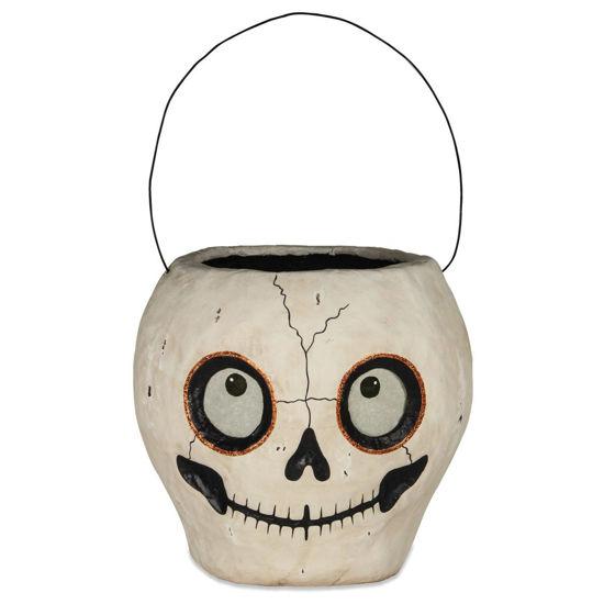 Skull Bucket Paper Mache by Bethany Lowe Designs