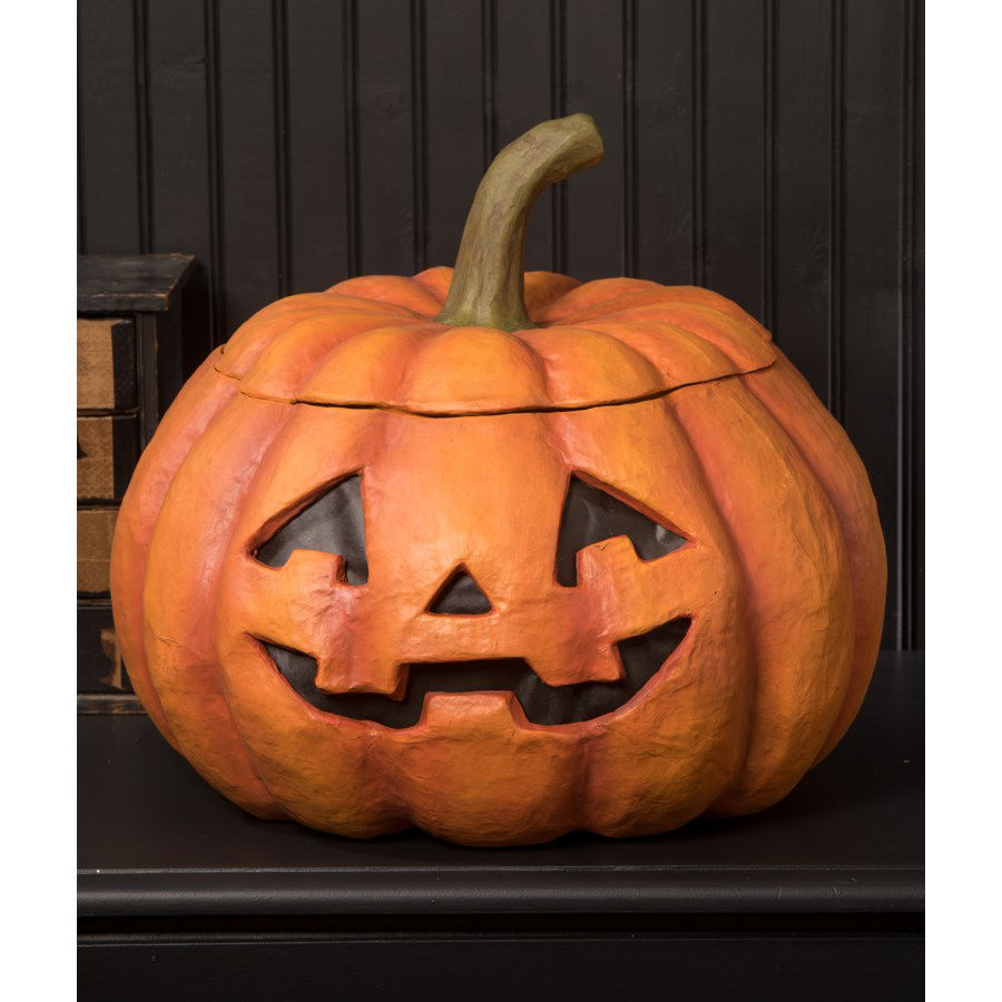 Large Jack O' Lantern Container by Bethany Lowe Designs