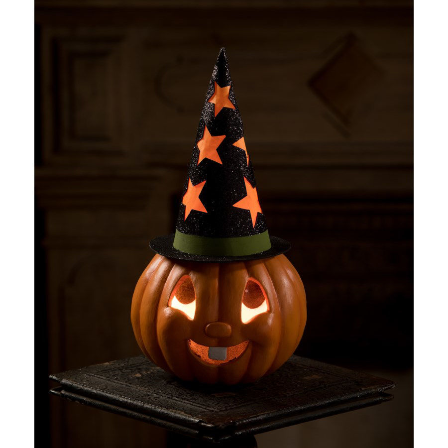 Retro Pumpkin Witch Container by Bethany Lowe Designs