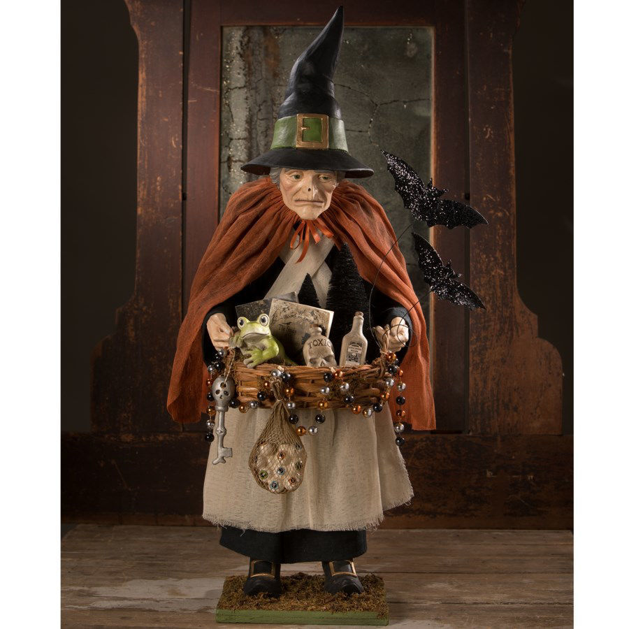 Brewhilda Peddler Witch by Bethany Lowe Designs