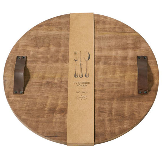 Round Over Sized Wood Board by Mudpie