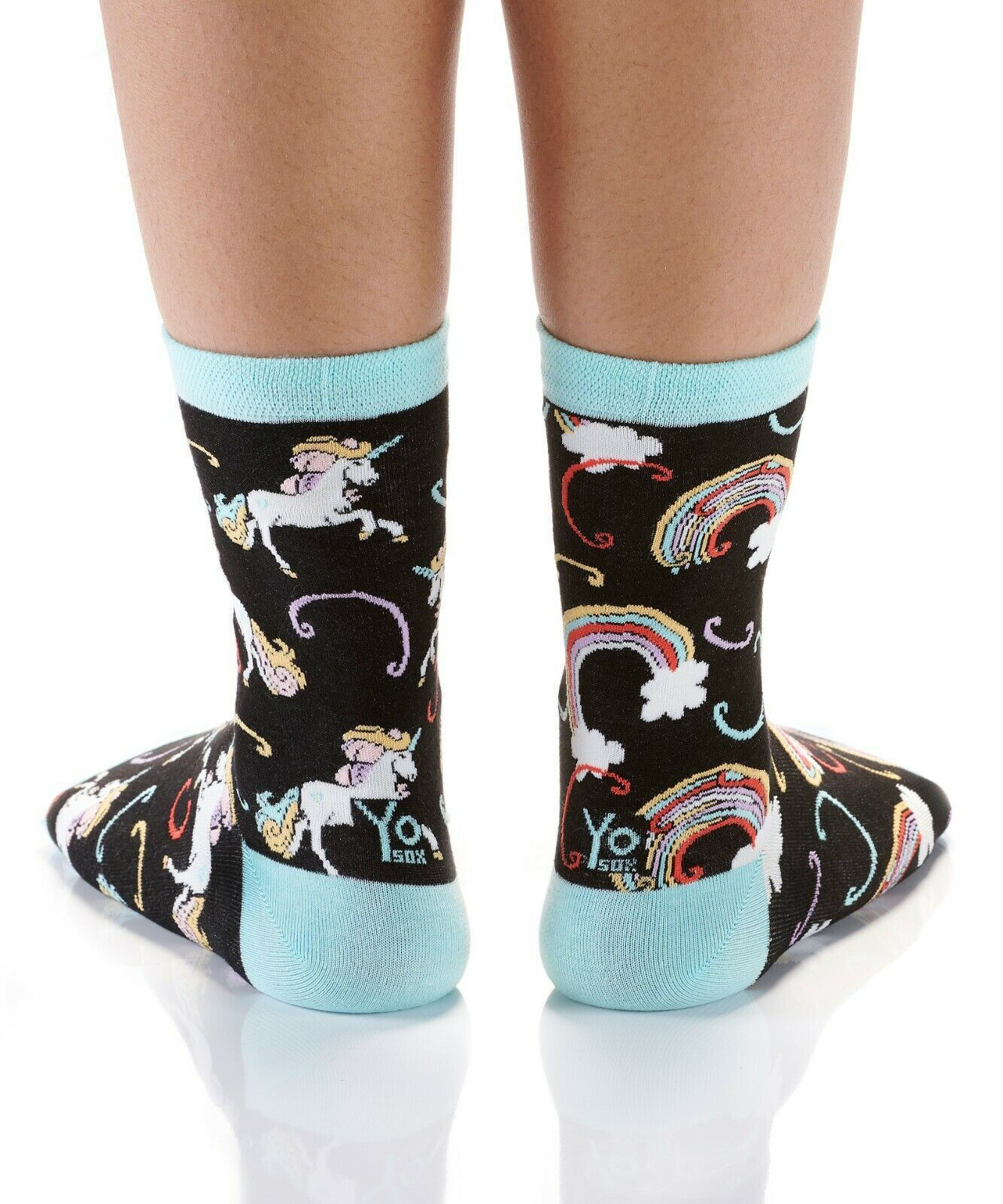 Rainbows & Unicorns Women's Crew Socks by Yo Sox