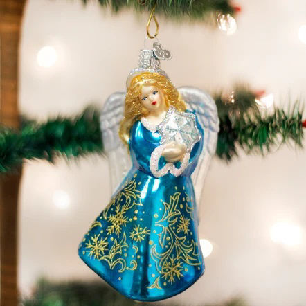 Glistening Snowflake Angel Ornament by Old World Christmas