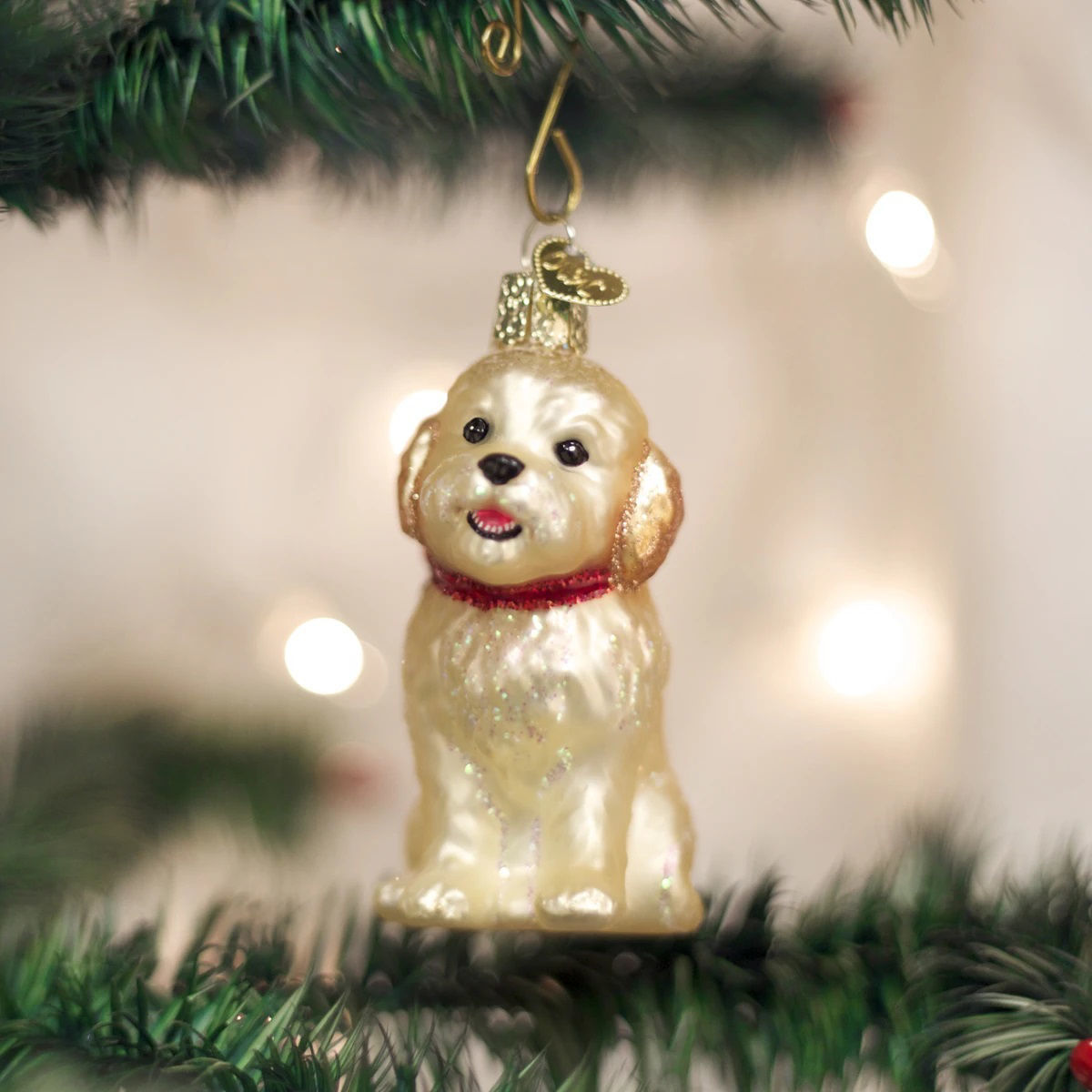 Cockapoo Puppy Ornament by Old World Christmas