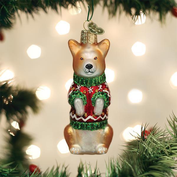 Christmas Corgi Ornament by Old World Christmas