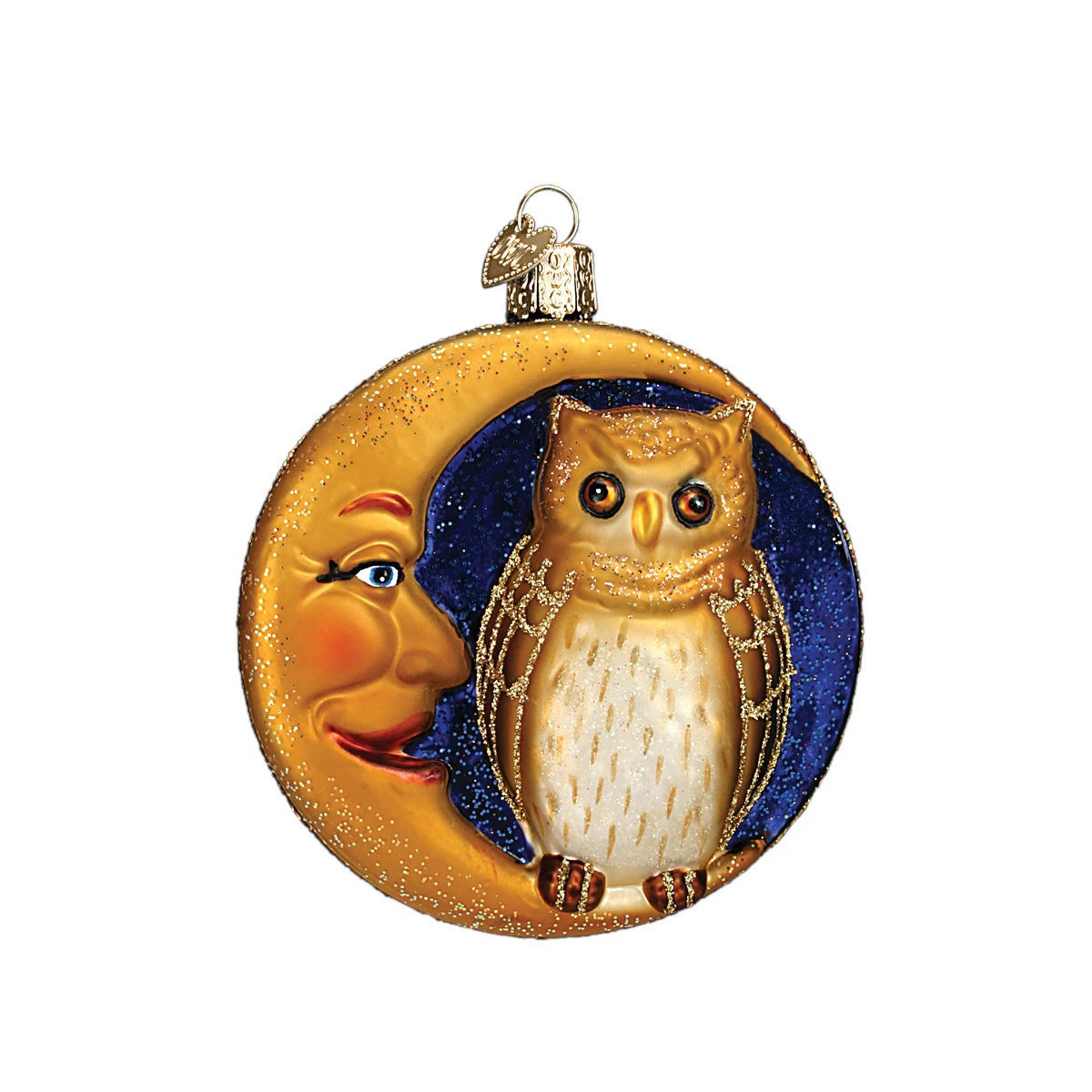 Owl In Moon Ornament by Old World Christmas