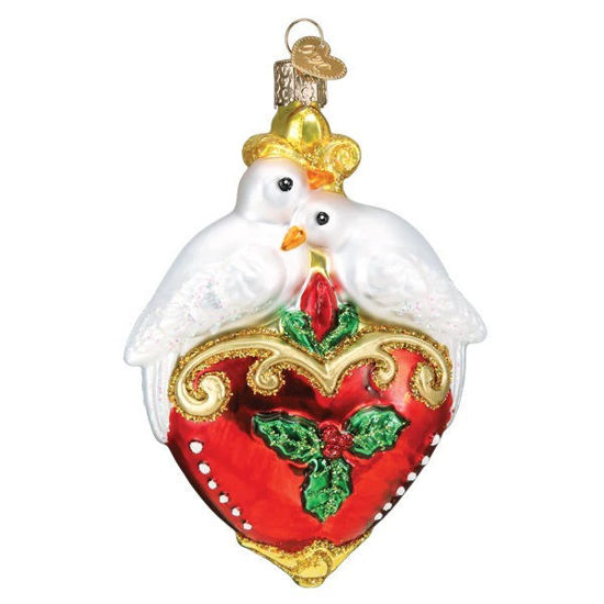 Two Turtle Doves Ornament by Old World Christmas
