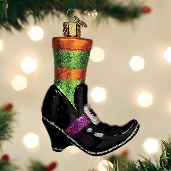 Witches Shoe Ornament by Old World Christmas