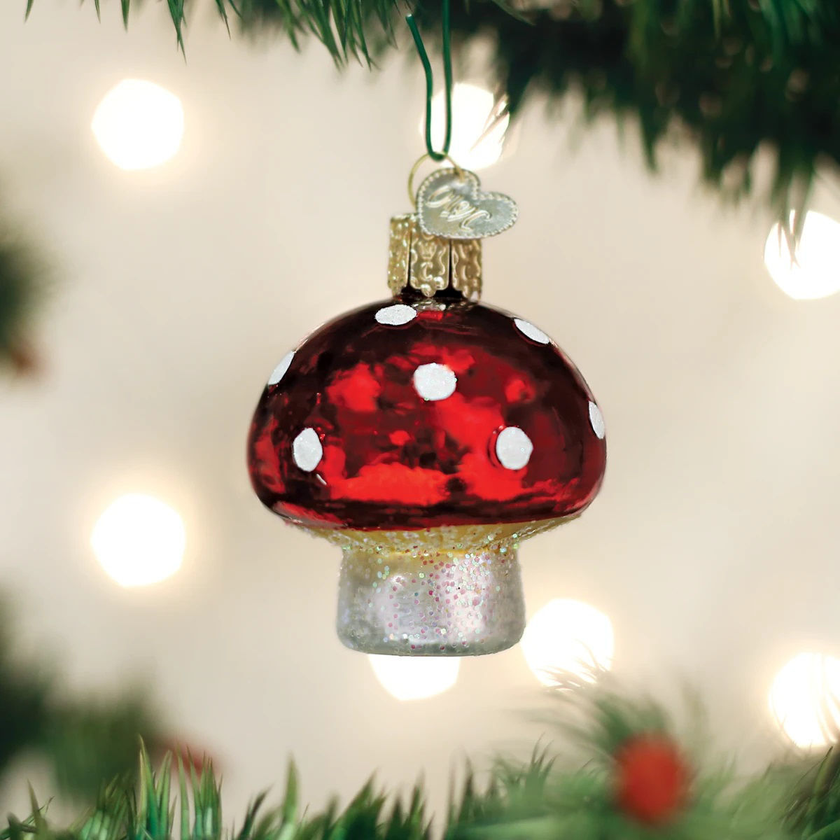 Lucky Mushroom Ornament by Old World Christmas