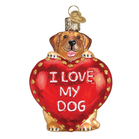 I Love My Dog Ornament by Old World Christmas